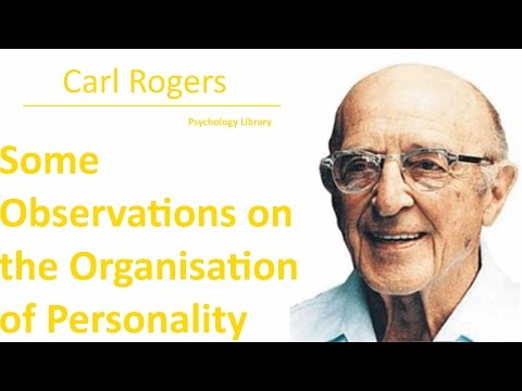 Carl Rogers - Some Observations on the Organisation of Personality - Psychology audiobook