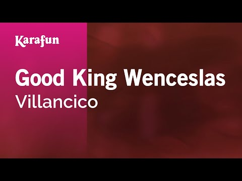 Karaoke Good King Wenceslas - Christmas Carol *