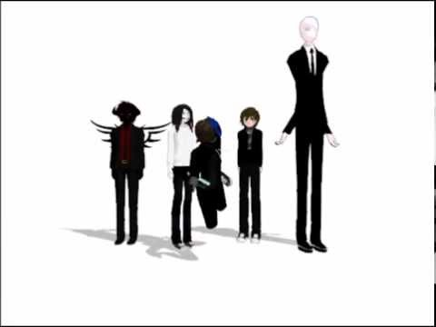 MMD Eyeless Jack, Jeff The Killer, Zalgo And Slenderman - Everybody To The Flop