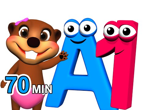 ABCs 123s + More  Alphabet Numbers Nursery Rhymes  Kids Learn 3D Cartoons  Busy & Ba Beavers