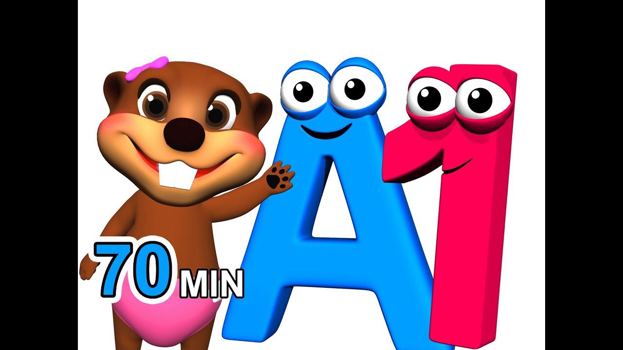Cute Toddlers Playing Cartoon Wallpaper Abcs 123s More Alphabet Numbers Nursery Rhymes Kids