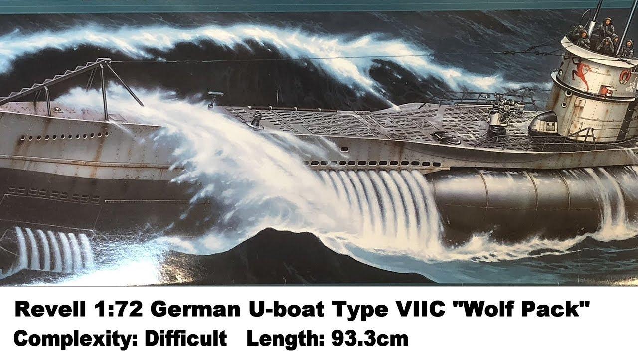 REVELL German Submarine Type VII C//41 1:72 Boat Model Kit 05163