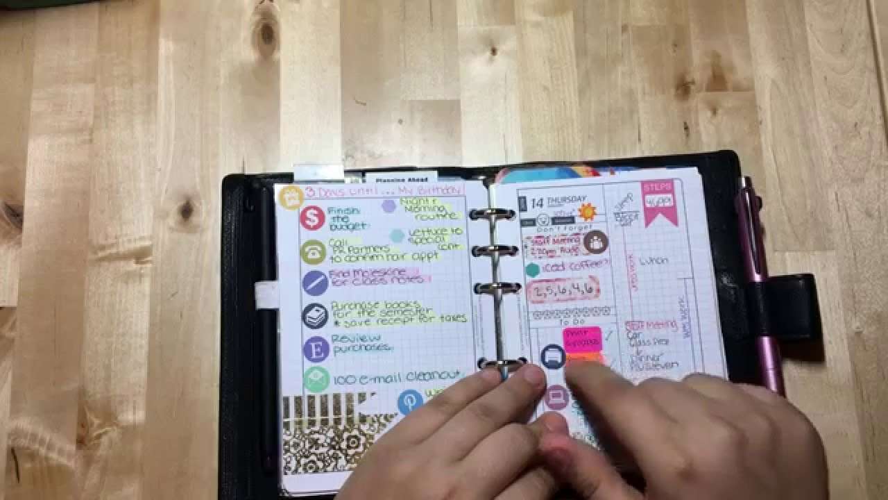 my 2016 planner setup the calendar with diyfish inserts youtube