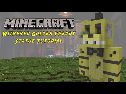 Minecraft Tutorial: Withered Golden Freddy (Five Nights At Freddys 2) Statue