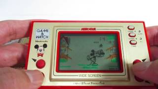 15023 Nintendo Game & Watch Wide Screen Mickey Mouse MC-25 1981