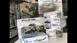 New Kits from Meng Takom Ryefield and Amusing Hobby models complete look inside.