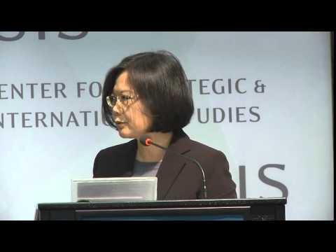 Tsai Ing-wen: 2016: Taiwan Faces the Future 蔡英文在美國戰略暨國際研究中心演說及對談