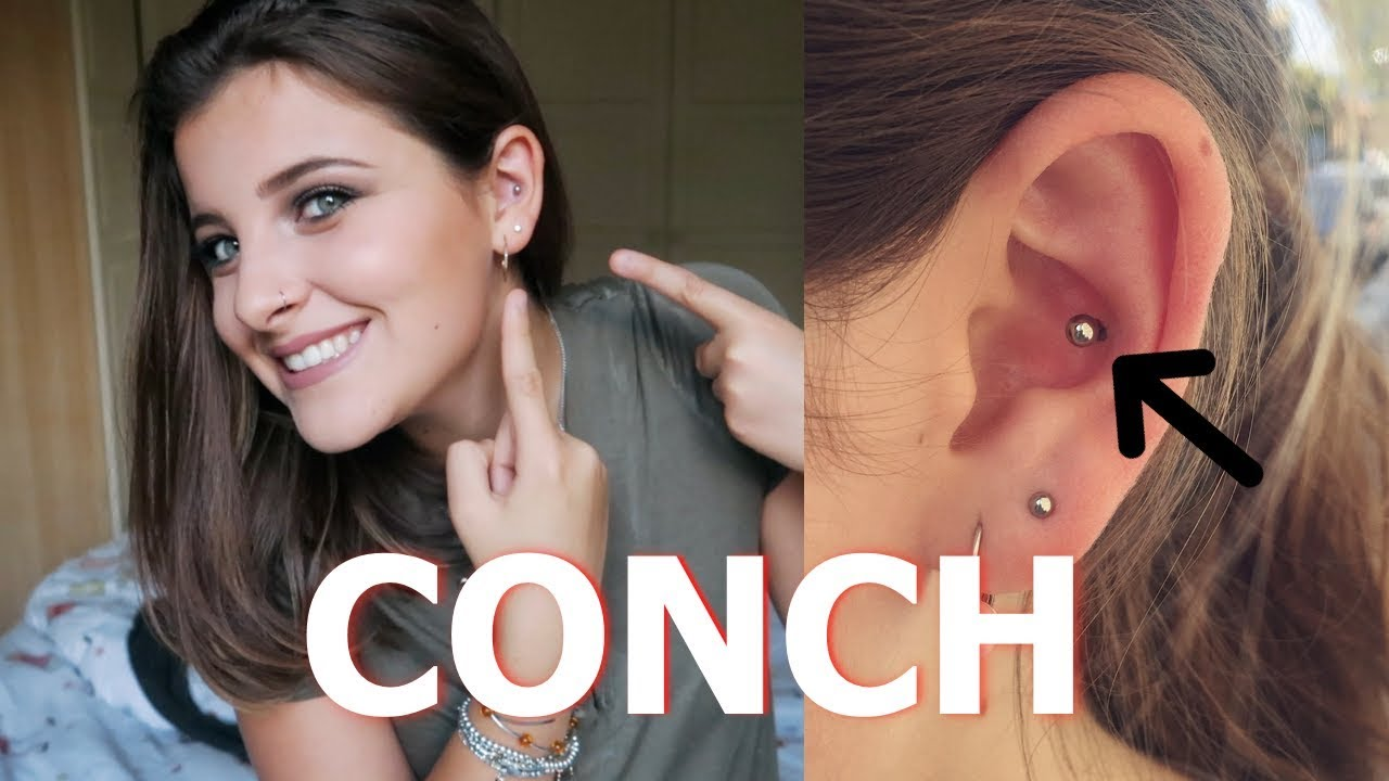 Conch Piercing My Experience Aftercare Youtube