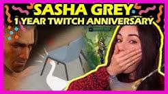 Sasha Grey's 1 Year Twitch Anniversary