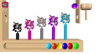 Learn Colors with Tom and Jerry #2 WOODEN FACE HAMMER XYLOPHONE For Toddlers Soccer Balls for Kids
