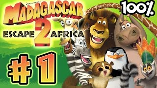 Madagascar Escape 2 Africa Walkthrough Part 1 (X360, PS3, PS2, Wii) 100% Level 1 - In Madagascar -