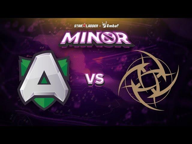 Alliance vs Ninjas in Pyjamas Game 1 - SL ImbaTV Minor EU Qualifier: Winners' Finals