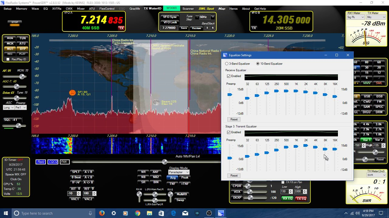 Flex 3000 SDR- running KE9NS software