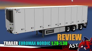 """[""""ETS2"""", """"Euro Truck Simulator 2"""", """"trailer mod TRAILER EUROMAX NORDIC for 1.28-1.30 review""""]"""