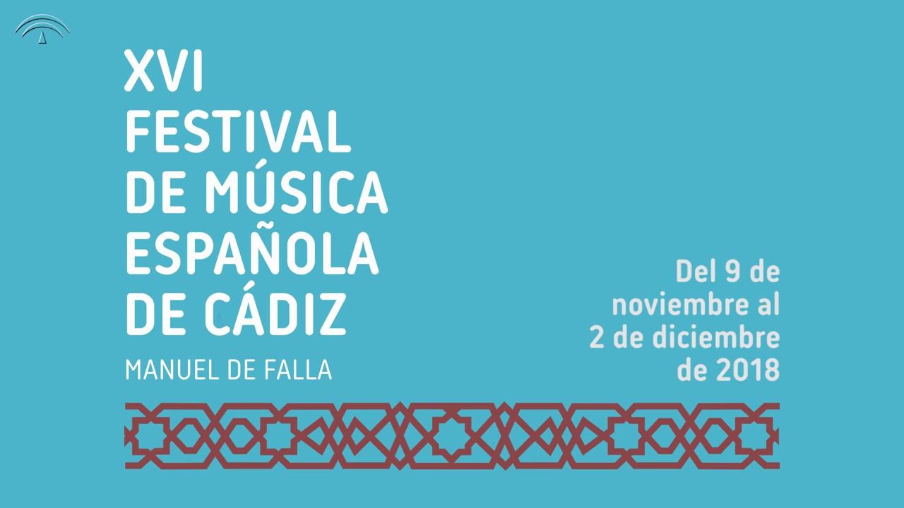 Festival De Música Española De Cádiz 2018 Youtube