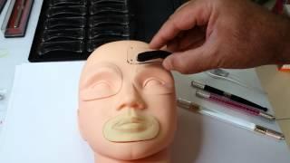 kalici makyaj kil teknigi micro blade sablon baski