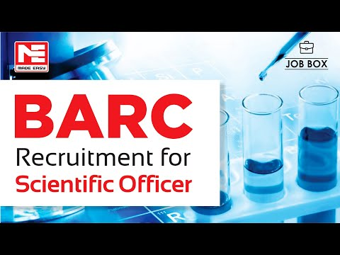 BARC VACANCIES | JOB OPPORTUNITY | SCIENTIFIC OFFICER | GROUP A JOBS | MADE EASY