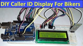 Wireless Bike Caller ID Display for Bikers using Bluetooth