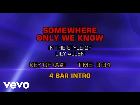 Lily Allen - Somewhere Only We Know (Karaoke)