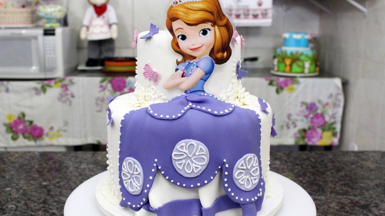 Como fazer um lindo bolo da princesa sofia youtube - Foto princesa sofia ...