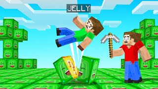 Minecraft BUT The Entire World Is JELLY LUCKY BLOCKS!