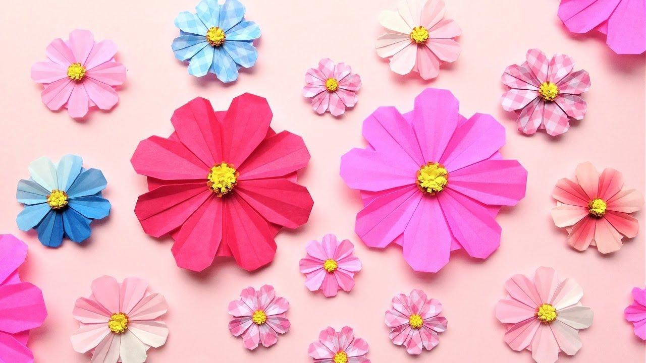 折り紙 コスモスの花 折り方 2 Origami cosmos flower tutorial(niceno1)