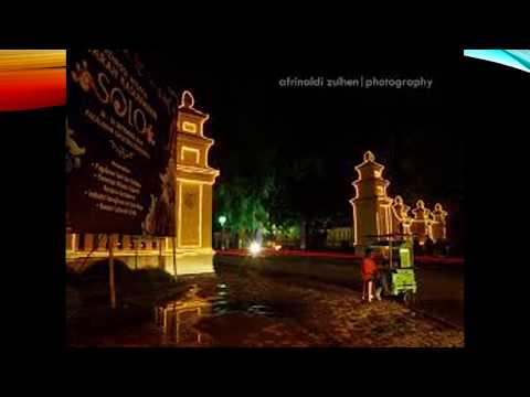THE BEAUTIFUL PLACE OF TOURISM CITY OF SURAKARTA JAVA INDONESIA