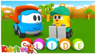 Leo & Lifty Learn Letters! (S) Kids Toy Trucks Cartoons (Learn the Alphabet)