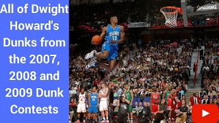 All of Dwight Howard's Dunks (2007, 2008 & 2009) Dunk Contest Video
