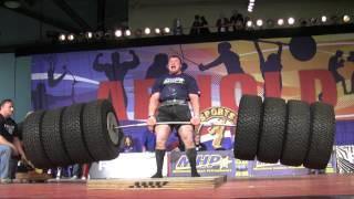 Arnold Strongman Classic 2013: Day 2 Tire Deadlift & Interviews