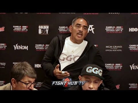 ABEL SANCHEZ SNAPS AT REPORTER FOR SAYING CANELO DIDN'T RUN