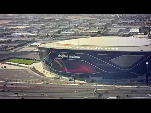 Las Vegas Allegiant Stadium Giant LED Video Screen Test Today Before Sunday Night Bucs vs Raiders