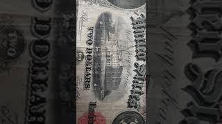 [해외지폐] 행운의2달러 1917년 구권 미국 달러 지…