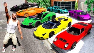 Collecting LAMBORGHINI SUPER CARS In GTA 5!
