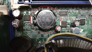How to Replace CMOS Battery in a Desktop Computer's Motherboard