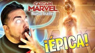 ¡Brutal! Capitana Marvel es ÉPICA. 😱   Tráiler Reacción