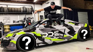 SURPRISING MY FRIEND WITH CUSTOM AUDI R8 SUPERCAR! *NEW WHEELS & WRAP*