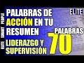 70 Palabras de Acción en tu Resumen Profesional (Curriculum): Liderazgo y Supervisión -  - Video#17