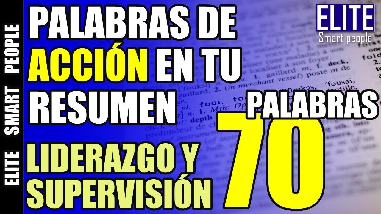 70 Palabras de Acción en tu Resumen Profesional (Curriculum ...