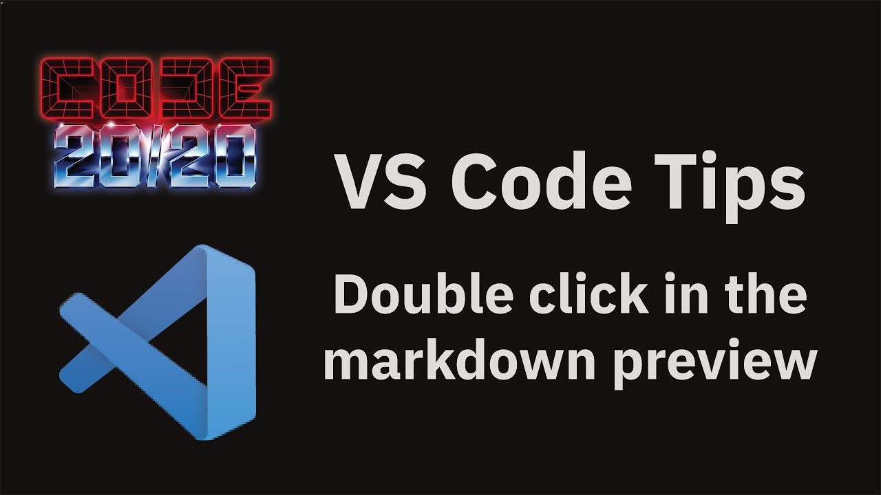 Double click in the markdown preview