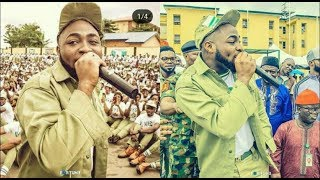 Davido & Broda Shaggi Mesmerize Corp Members & Staff at NYSC Orientation Camp