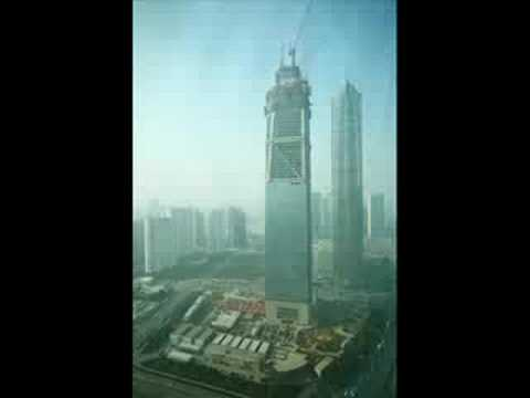 shanghai world financial center construction video