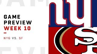 New York Giants vs. San Francisco 49ers | Week 10 Game Preview | NFL Playbook