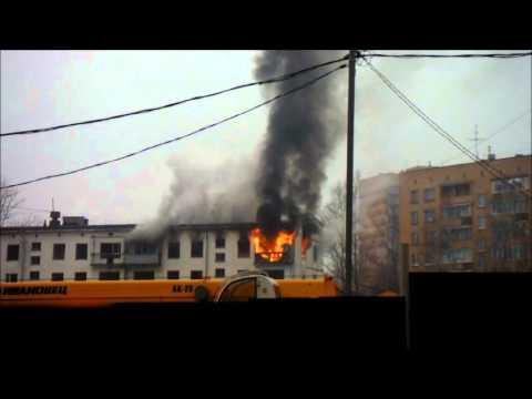 Пожар в Одинцово на улице Маршала Жукова, 23.
