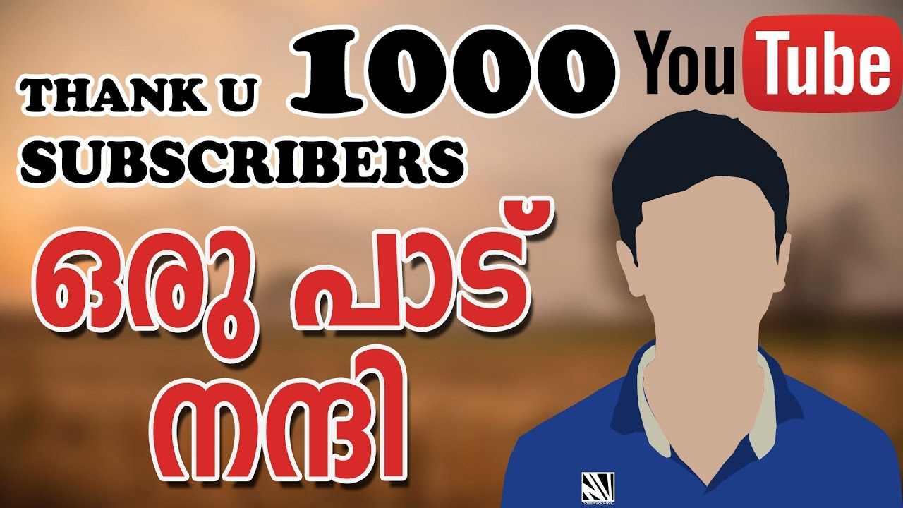 1000 subscribers special thank you all 4of4 3
