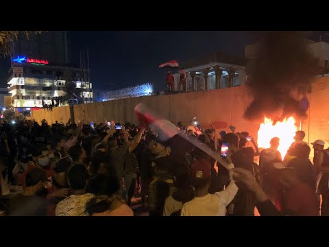 Iraqi protesters set fire to Iranian consulate in Najaf