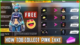 HOW TO COLLECT PINK CAKE🔥IN NEW EVENT IN FREE FIRE || FREE GIRL DJ BUNDLE🔥 IN FREE FIRE