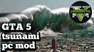 GTA 5 TSUNAMI MOD first time modding having fun and modding cars at the end of the video funny