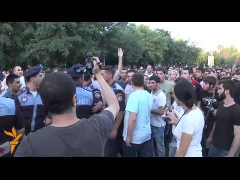 Акция протеста в Ереване вечером 23 июня