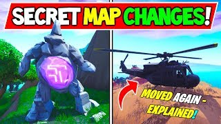 """*NEW* Fortnite SECRET MAP CHANGES """"HELICOPTER MISSIONS"""" + """"STATUE WALKING AROUND VOLCANO"""""""